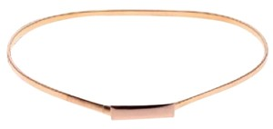 Other Slim Gold Tone Elastic Belt