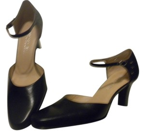 Aerosoles Leather Cutout Comfortable Mule Slide Black Pumps