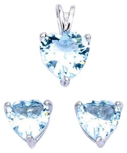 9.2.5 gorgeous aquamarine heart pendant and earrings with chain