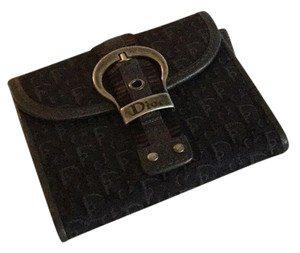 Dior New Dior Monogram Logo Black Wallet