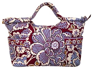 Vera Bradley Satchel in Brown & Blue