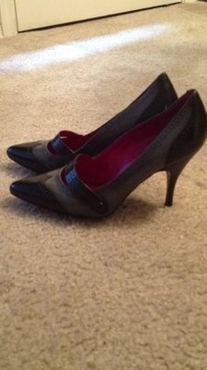 Banana Republic Oxford Heels Gray & black Pumps