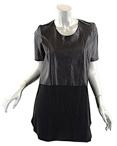Mason short dress Black Tunic Leather on Tradesy