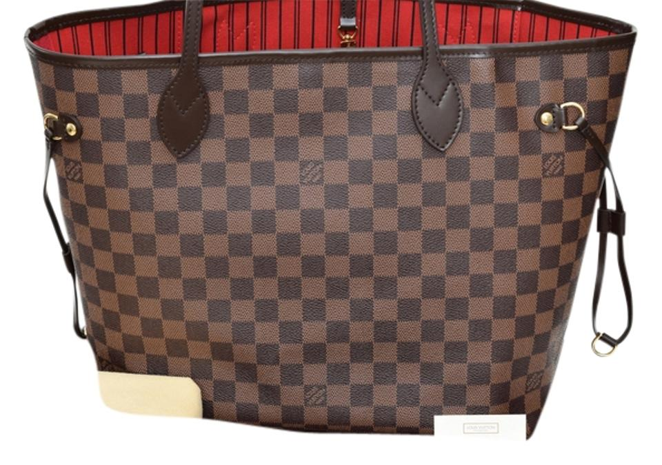 3fb308a5be2c Louis Vuitton Never Full Mm Made In Usa Tote in Damier Ebene Image 0 ...