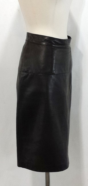 Bart by Sibylle Lyn Leather Skirt Chocolate Brown