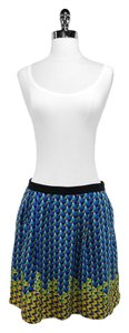 Marc by Marc Jacobs Silk Skirt Blue/Yellow