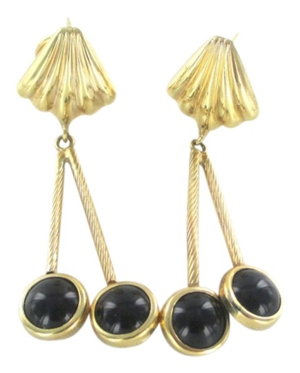 Preload https://img-static.tradesy.com/item/1371682/gold-14kt-solid-yellow-with-onyx-dangle-earrings-0-0-540-540.jpg