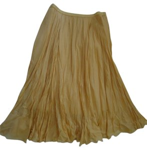 Coldwater Creek Skirt mustard yellow