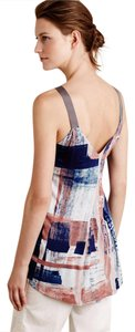 Anthropologie Top blue and pink