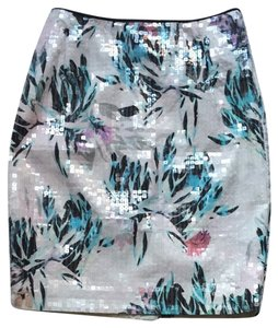 H&M Skirt White Multicolor