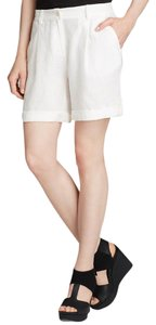 Eileen Fisher Linen Shorts WHITE