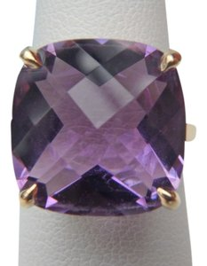 Tiffany & Co. Tiffany & Co 18k yellow gold with 8.5 carats Amethyst sparkler ring size 6 with Tiffany inner and outer box