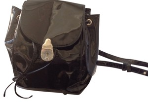 Calvin Klein Made In Italy. Black Patent Backpack