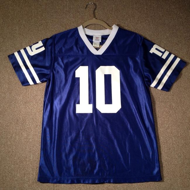 NFL Team Apparel Giants Jersey Manning T Shirt Blue and White