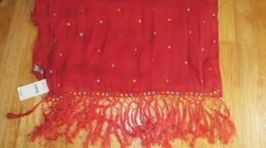 Elaine Gold for Collection XIIX Ltd. Red sheer scarf/shawl/wrap