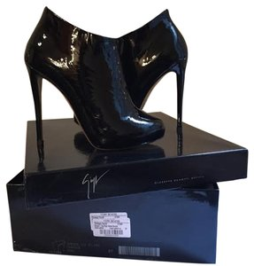 Giuseppe Zanotti Black Patent Leather Ankle Patent Black Boots