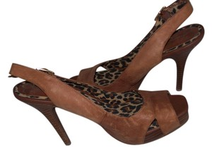 Jessica Simpson Leather Brown Pumps
