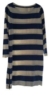 J.Crew short dress Blue and white Stripe Shift on Tradesy