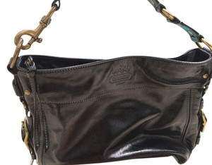 Coach Patent Leather Brass Shoulder Bag