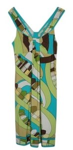 Green, yellow, brown and blue Maxi Dress by Donna Morgan