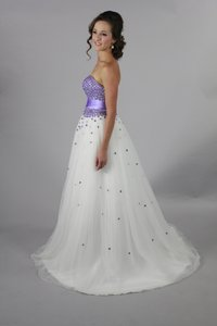Handmade Sweetheart Neckline Backless Litte Purple Wedding Dress Wedding Dress