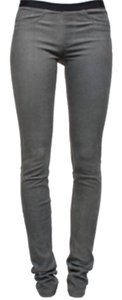 Helmut Lang Leather Legging Grey Leggings
