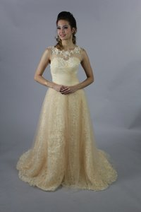 Handmade 3d Rose Lace Champagne Sweetheart Line With Crystal Belt New Design Wedding Dress Wedding Dress
