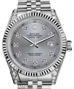 Rolex Mens Rolex 36mm Datejust Grey Color Dial With Diamond Accent Rt Watch