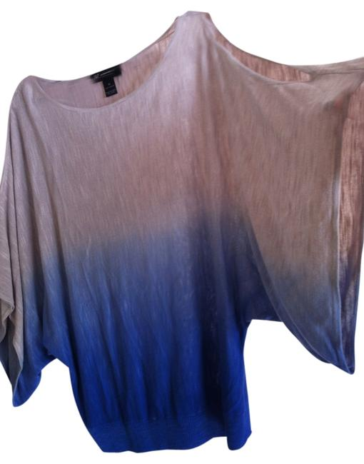INC International Concepts Top tan and blue