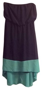L8ter short dress Dark Blue/Teal Strapless Wedding Sundress on Tradesy