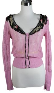 Anna Sui Floral Embroidery Cardigan