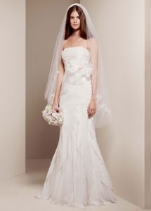 Vera Wang Ivory Chiffon Wedding Dress Size 6 (S)