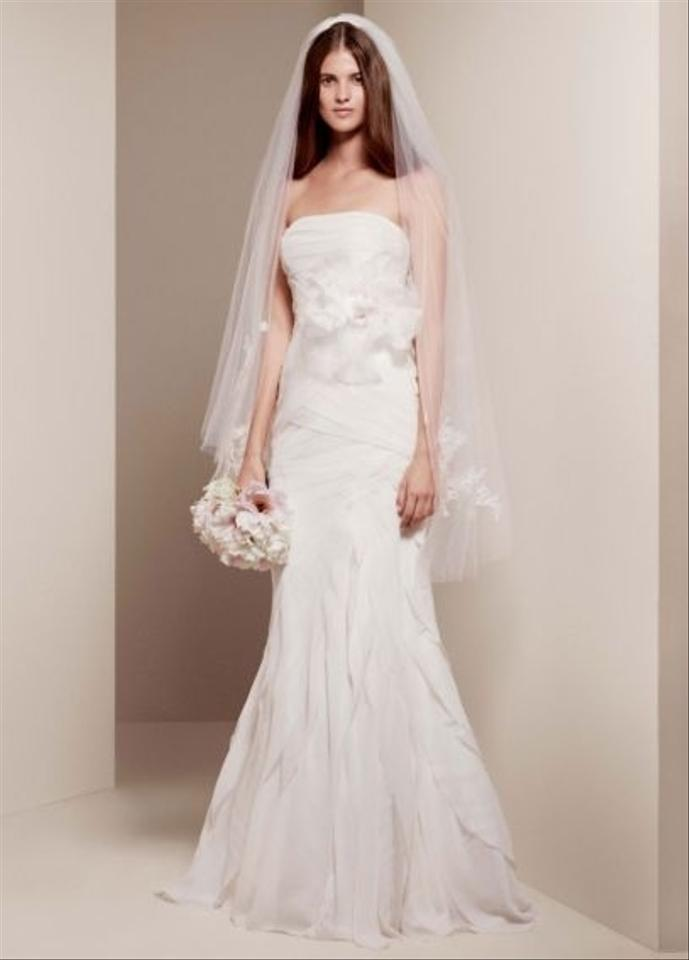 Vera Wang Ivory Chiffon Wedding Dress Size 6 (S) - Tradesy
