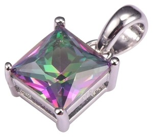 New Rainbow Quartz .925 Silver Pendant (Chain not included see info)