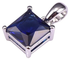 Other New Blue Sapphire & .925 Silver Pendant (Chain not included see info)
