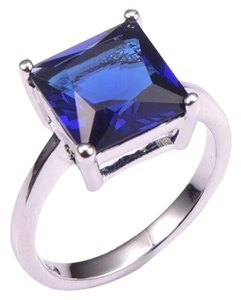 Other New Blue Sapphire .925 Silver Ring Sz 7