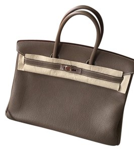 Hermes Etoupe Togo Birkin 35 Satchel in Taupe