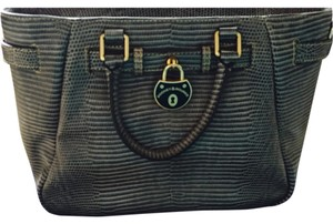 Dooney & Bourke Alligator Tote Crossbody Satchel in Gray
