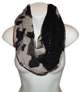 Other Semi Knit Camouflage Print Infinity Scarf