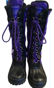 Coach Purple/Black Boots