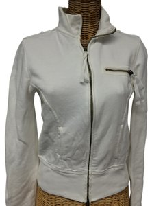 Joie Joie White Sweatshirt Jacket with pockets