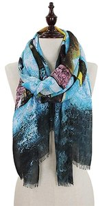 Abstract Painting Print Oblong Scarf