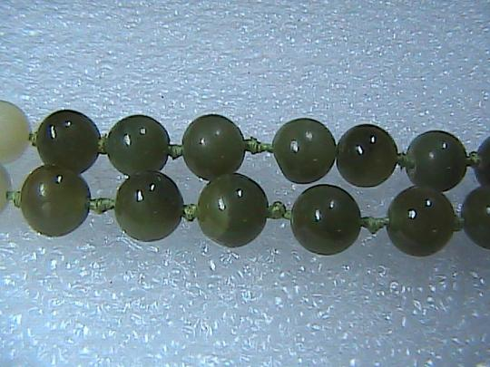 Vintage 14k Yellow Gold Pearl & Jade Necklace Image 6