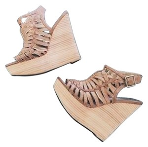 Bakers Summer Leather Brown Wedges