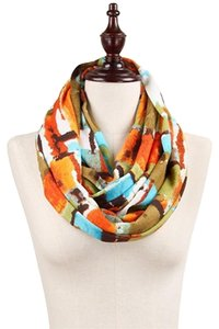 Other Abstract Print Jersey Knit Infinity Scarf