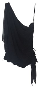Chinese Laundry One Shoulder Asymmetrical Top Black