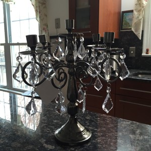 Terramina Gun Metal Finish Centerpiece
