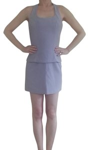 Stella McCartney Purple Violet Lilac Small Size 4 Size 6 Mini Pencil Halter Top Shell Top Rayon Acetate Polyester Dryclean Only 1995 Mini Skirt Lavender