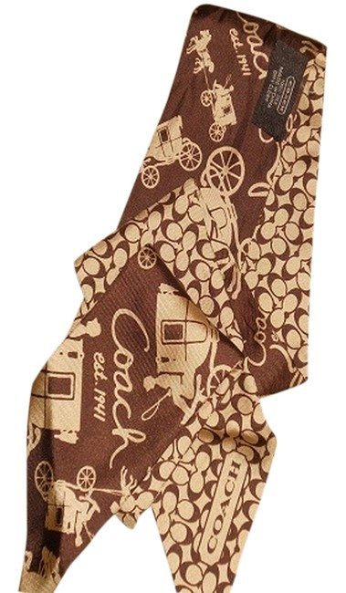 Item - Brown Carriage Ponytail Scarf Hair Accessory