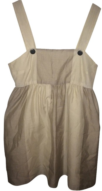 Alice + Olivia short dress Creme and Tan & Overall Linen on Tradesy